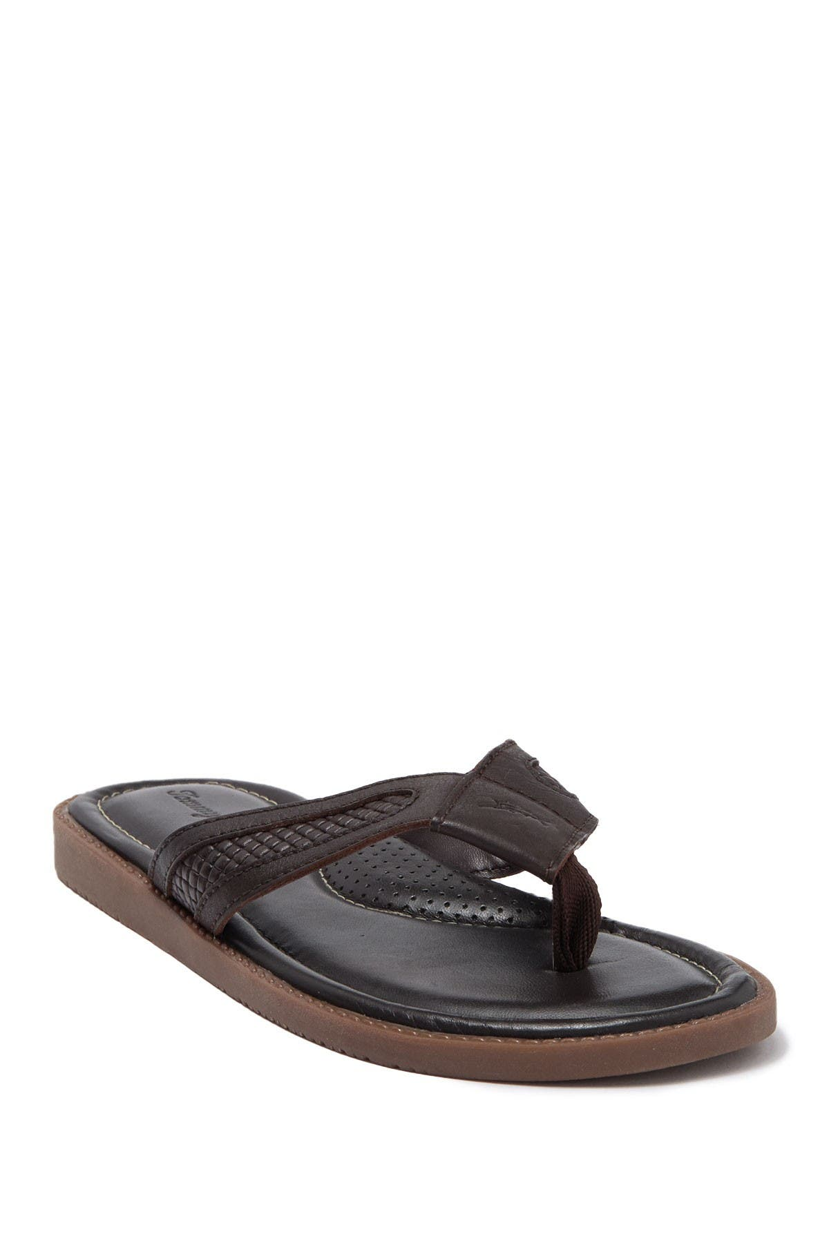 Image of Tommy Bahama Asher Leather Flip Flop