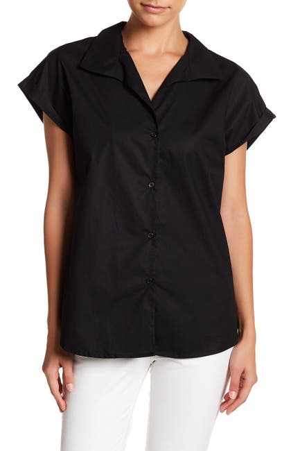 Image of TOV Short Sleeve Button Up Tailored Shirt