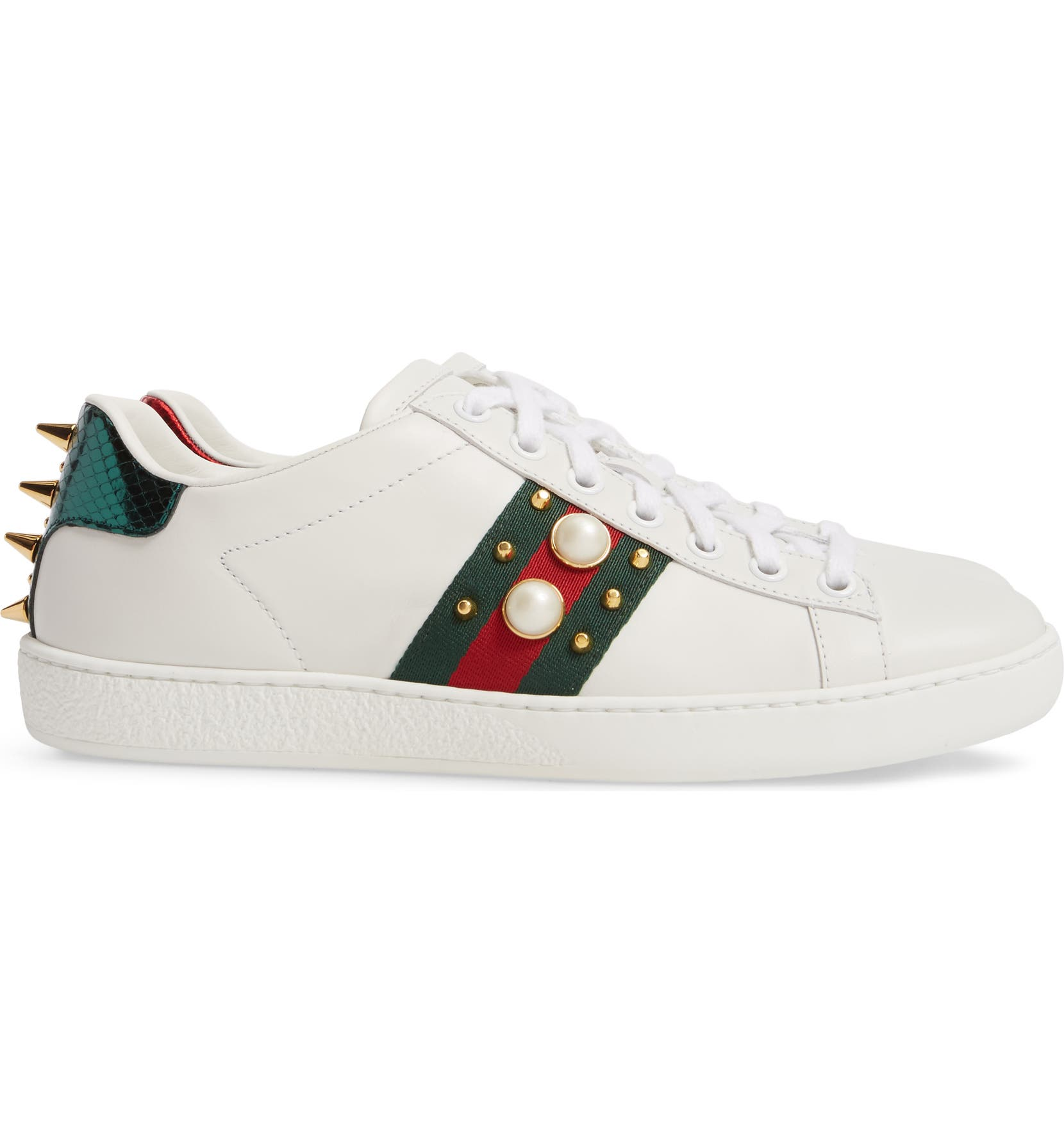 3e4f46a6b Gucci New Ace Low Top Sneaker (Women) | Nordstrom