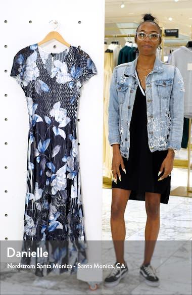Tiered Hem Charmeuse Maxi Dress, sales video thumbnail