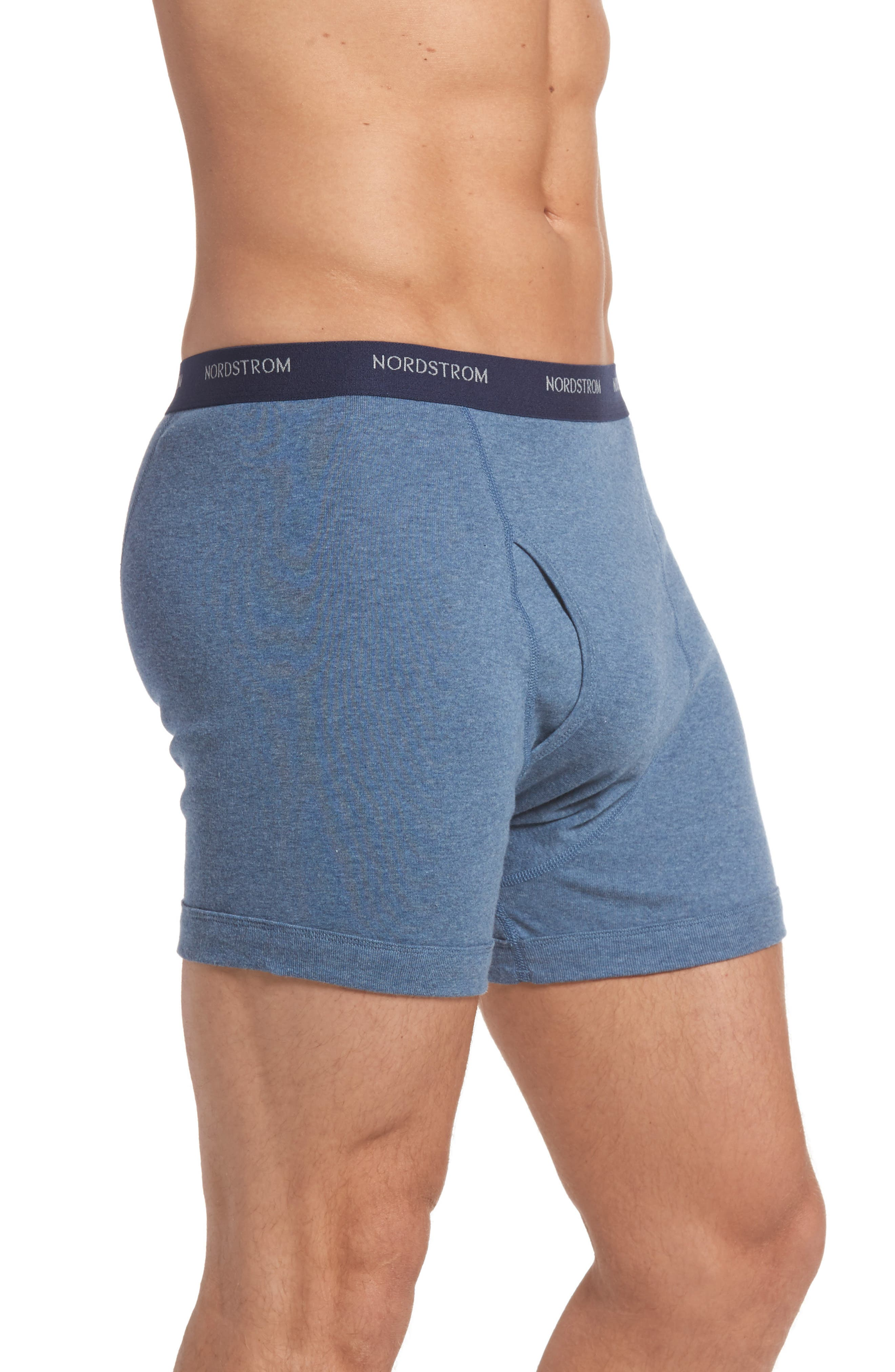 ,                             3-Pack Supima<sup>®</sup> Cotton Boxer Briefs,                             Alternate thumbnail 4, color,                             NAVY/ CHARCOAL/ BLUE