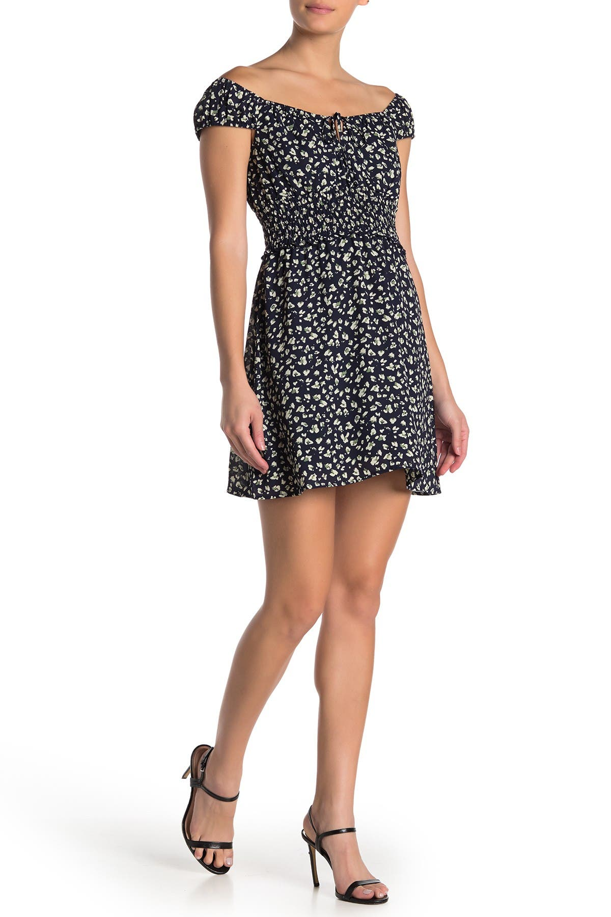 Image of ROW A Floral Smocked Waist Dress