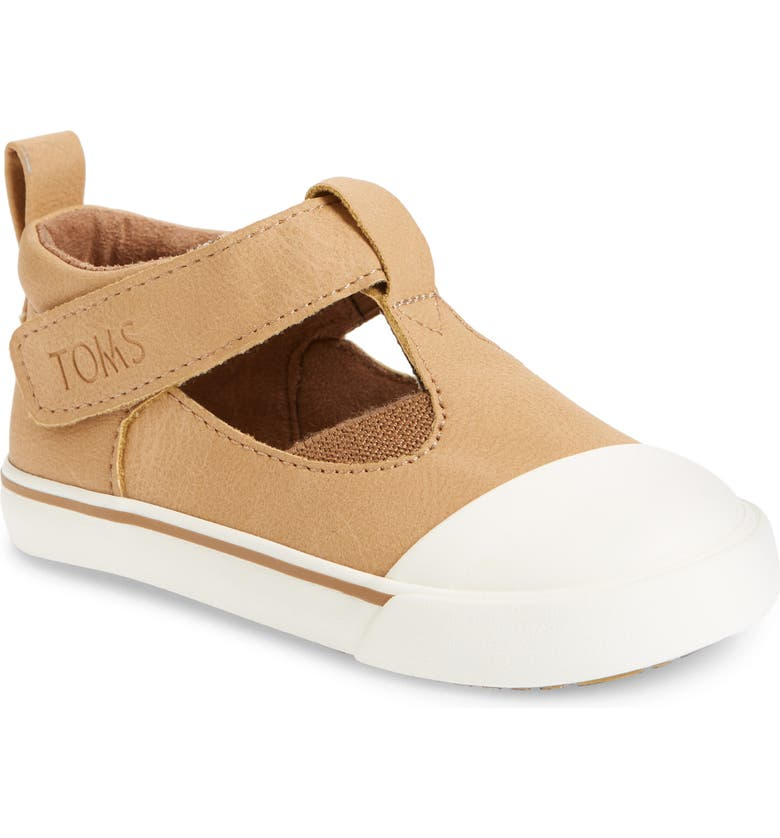 TOMS Joon T-Strap Sneaker, Main, color, NATURAL