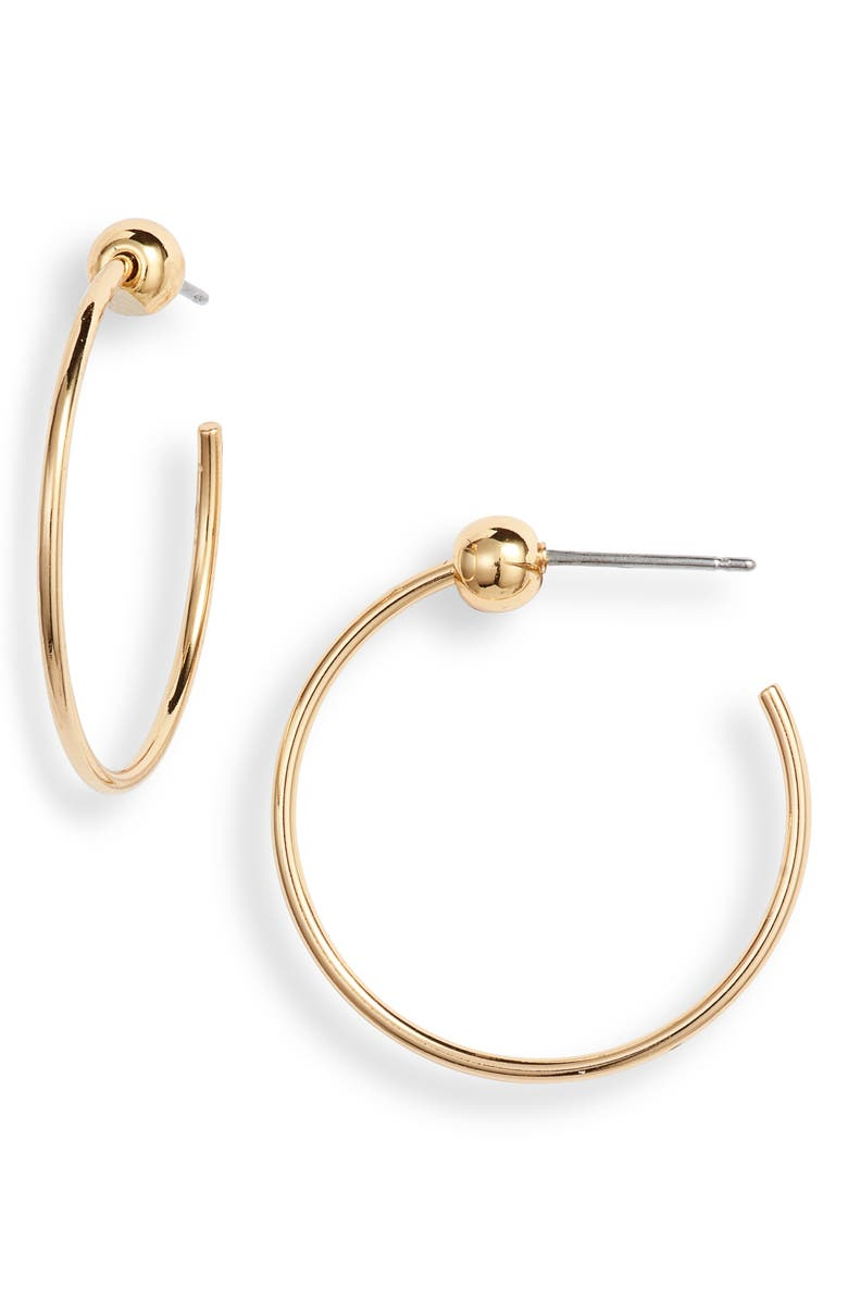 JENNY BIRD Extra Small Icon Hoop Earrings, Main, color, GOLD