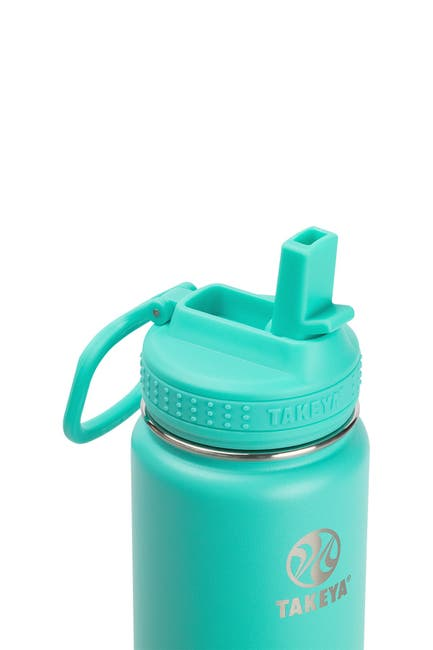 Image of Takeya Actives Insulated 18 oz. Stainless Steel Bottle with Straw Lid - Teal