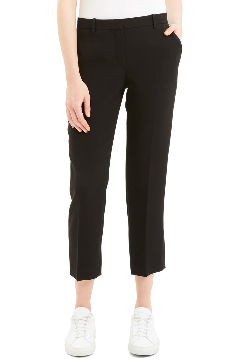 THEORY Tailored Ankle Trousers, Main, color, BLACK