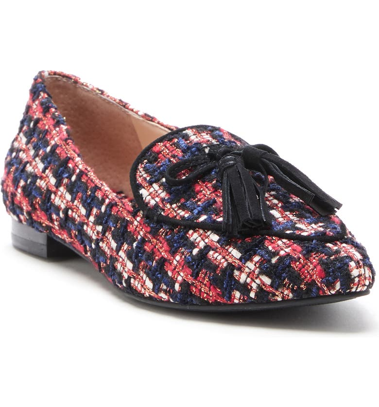 SOLE SOCIETY Hadlee Loafer, Main, color, RED-NAVY SNAKE PRINT
