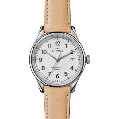 Shinola The Vinton Leather Strap Watch,
