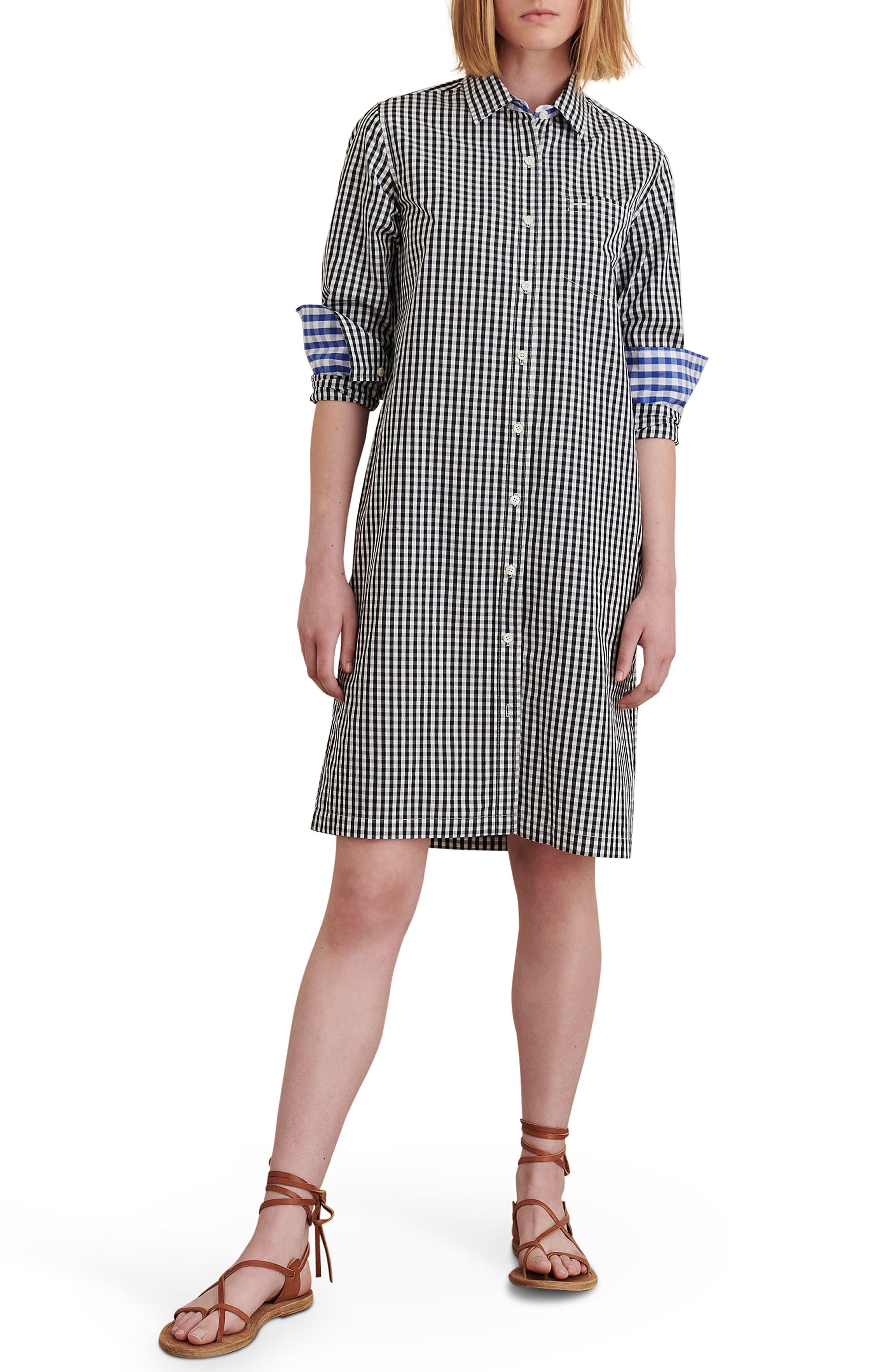 Wyatt Gingham Long Sleeve Shirtdress