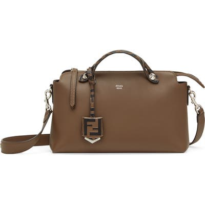 Fendi Medium By The Way Leather Shoulder Bag - Brown