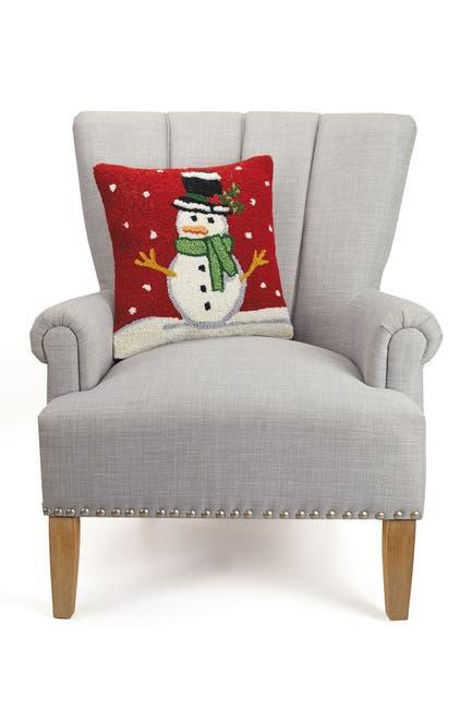 Image of Peking Handicraft Red/White Snowman Hook Pillow
