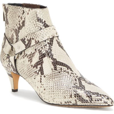Vince Camuto Merrie Harness Pointed Toe Bootie- Beige