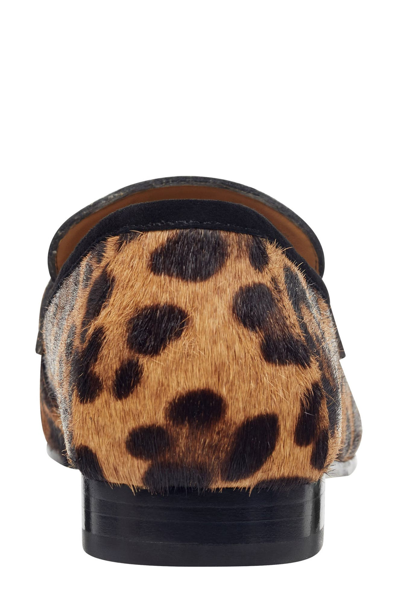 ,                             Chang Penny Loafer,                             Alternate thumbnail 7, color,                             LEOPARD PRINT CALF HAIR