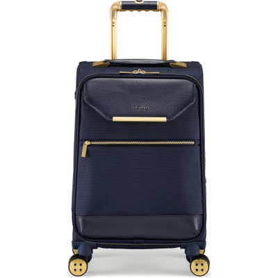 Ted Baker London Small Albany 21-Inch Spinner Carry-On - Blue
