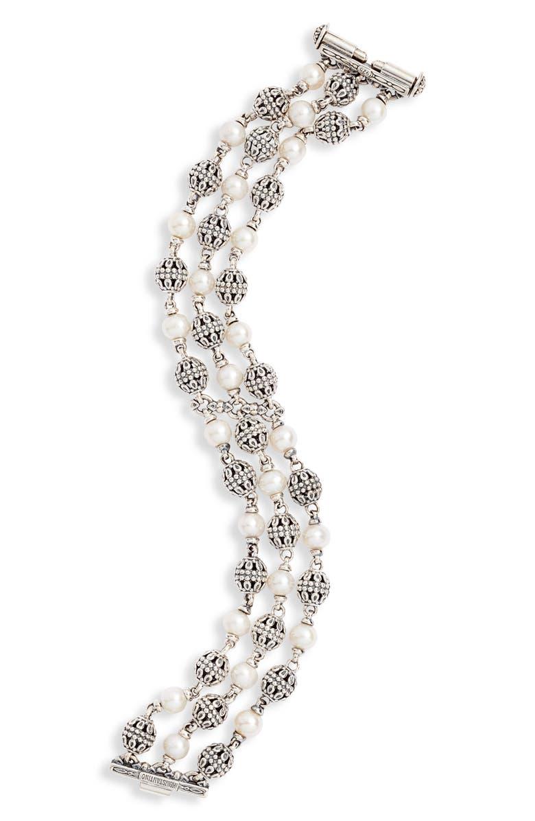 KONSTANTINO Kleos Multi-Chain Pearl Bracelet, Main, color, PEARL