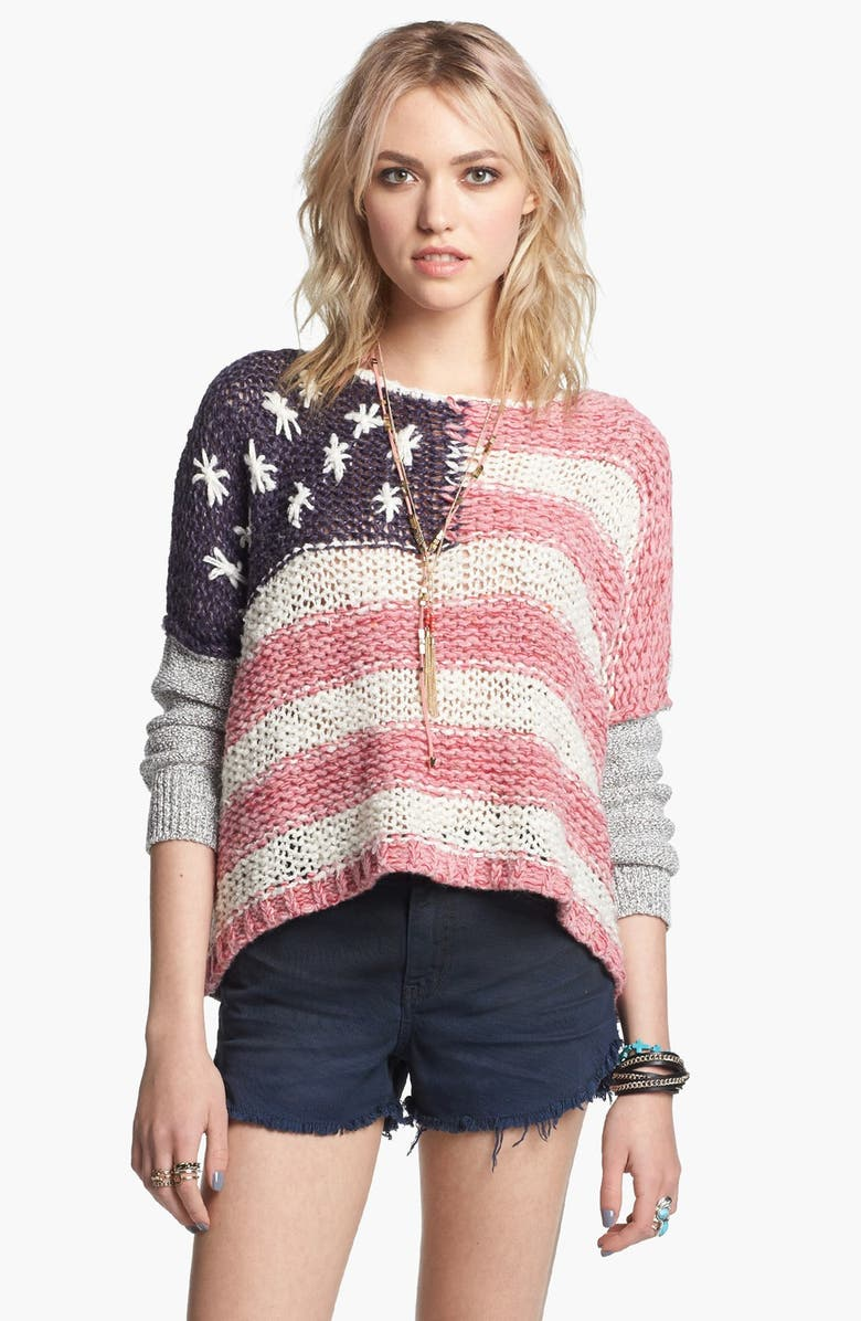 FREE PEOPLE Flag Sweater, Main, color, 616
