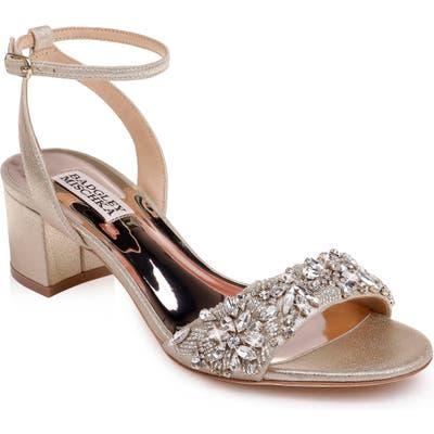 Badgley Mischka Ivanna Ankle Strap Sandal- Metallic