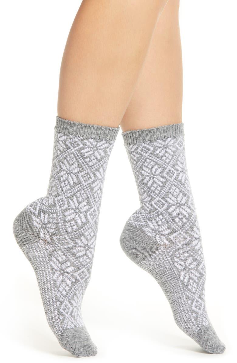 SMARTWOOL Traditional Snowflake Crew Socks, Main, color, 051