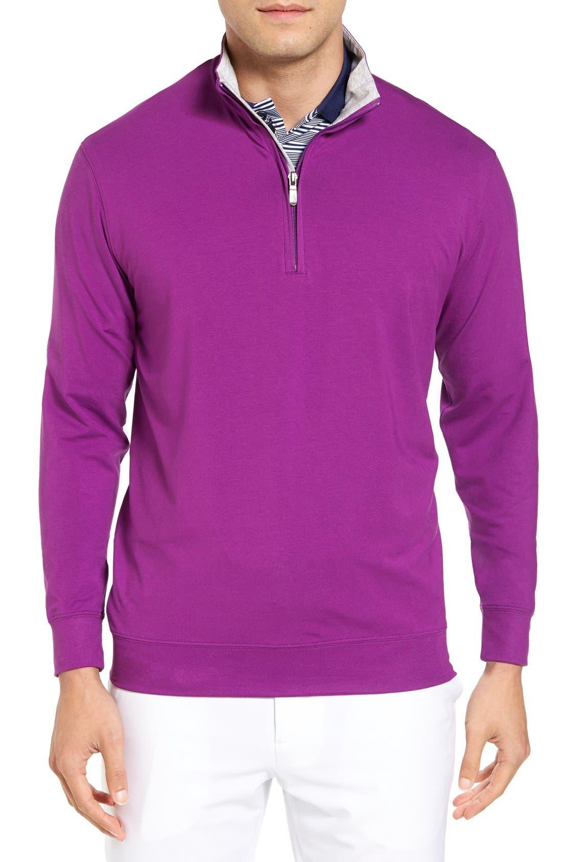 ,                             PTO Liquid Stretch Quarter Zip Pullover,                             Main thumbnail 46, color,                             530