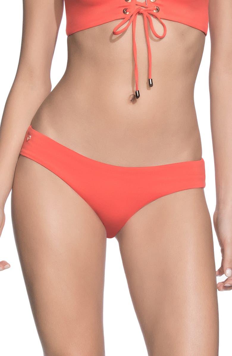 MAAJI Sublime Signature Reversible Bikini Bottoms, Main, color, MANDARIN ORANGE