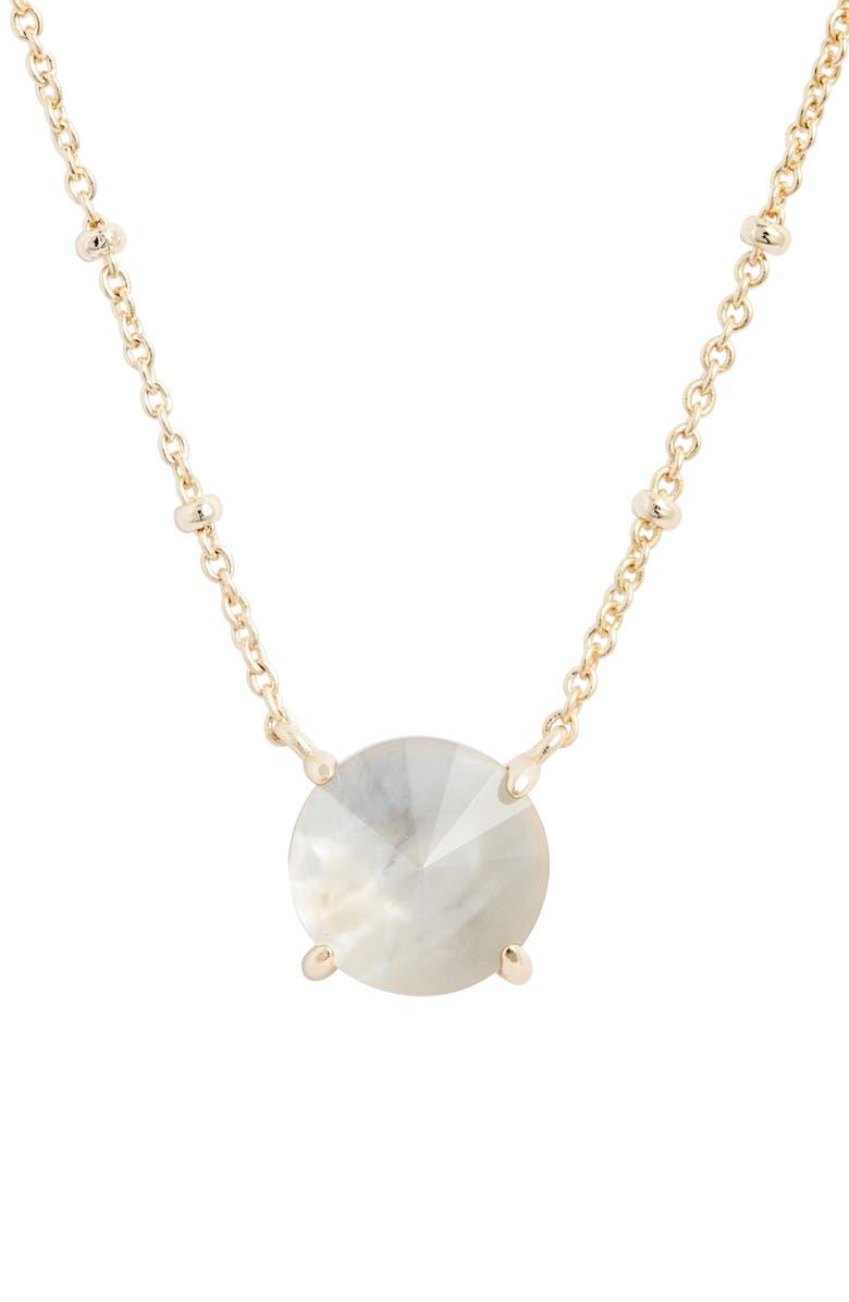 KENDRA SCOTT Jolie Short Pendant Necklace, Main, color, GOLD/ GREY ILLUSION