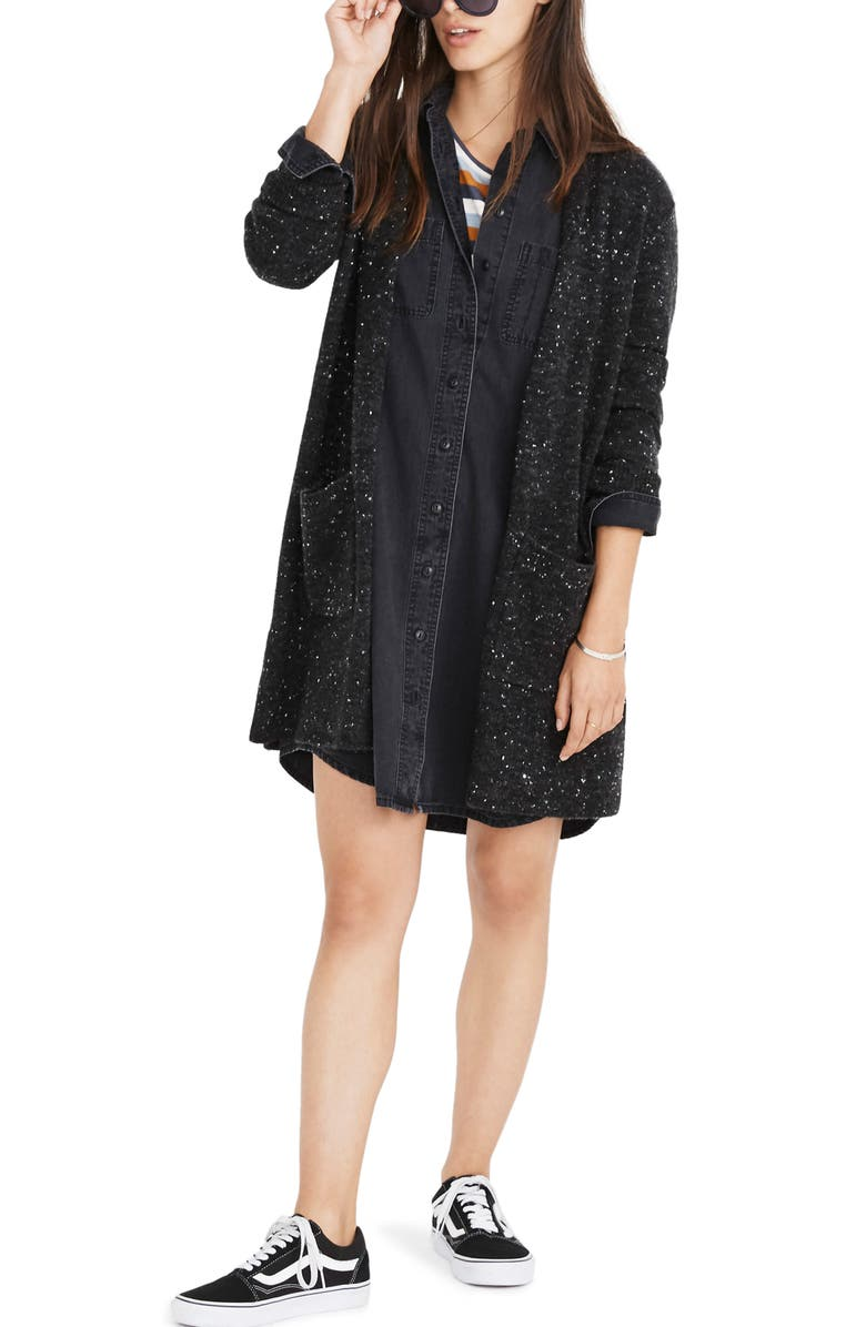 MADEWELL Donegal Kent Cardigan Sweater, Main, color, 020