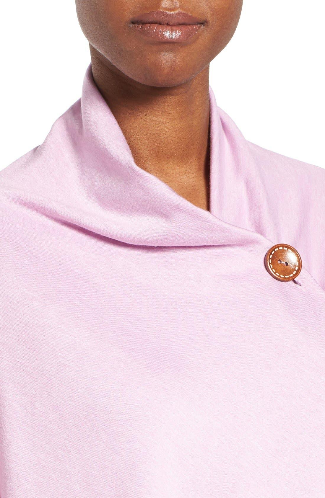 ,                             One-Button Fleece Wrap Cardigan,                             Alternate thumbnail 173, color,                             538
