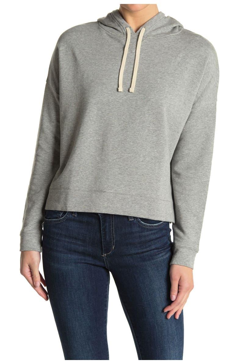 MADEWELL Sunny Hoodie Sweatshirt, Main, color, LIGHT HEATHER GREY