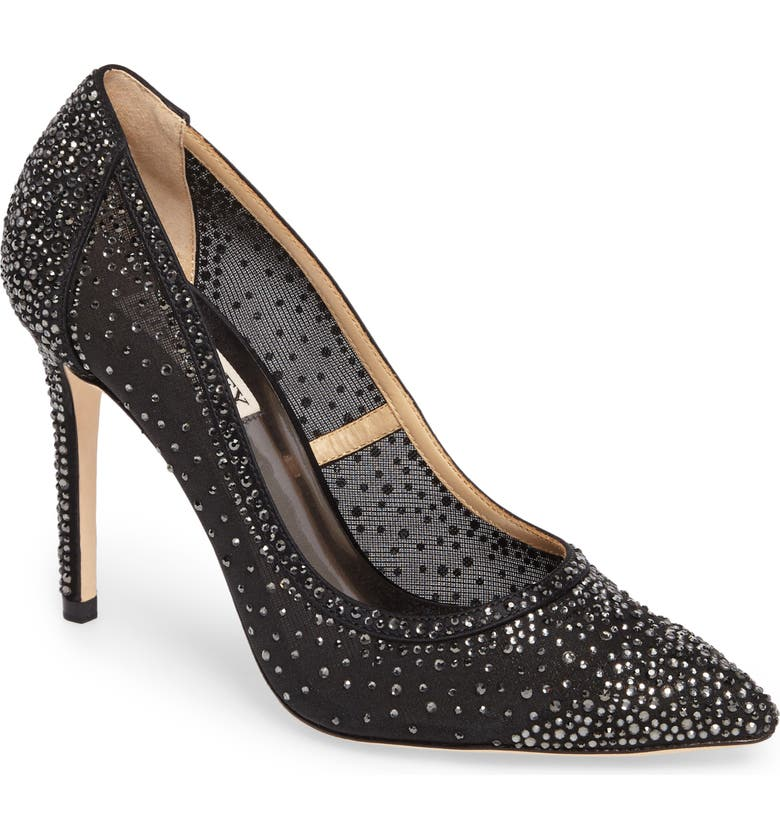 BADGLEY MISCHKA COLLECTION Badgley Mischka Weslee Pointy Toe Pump, Main, color, 015