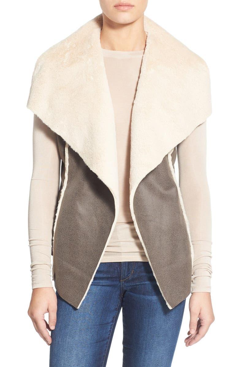 CHELSEA28 Faux Shearling Vest, Main, color, 250