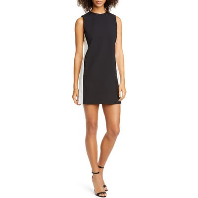 Alice + Olivia Coley Colorblock Shift Dress, Black