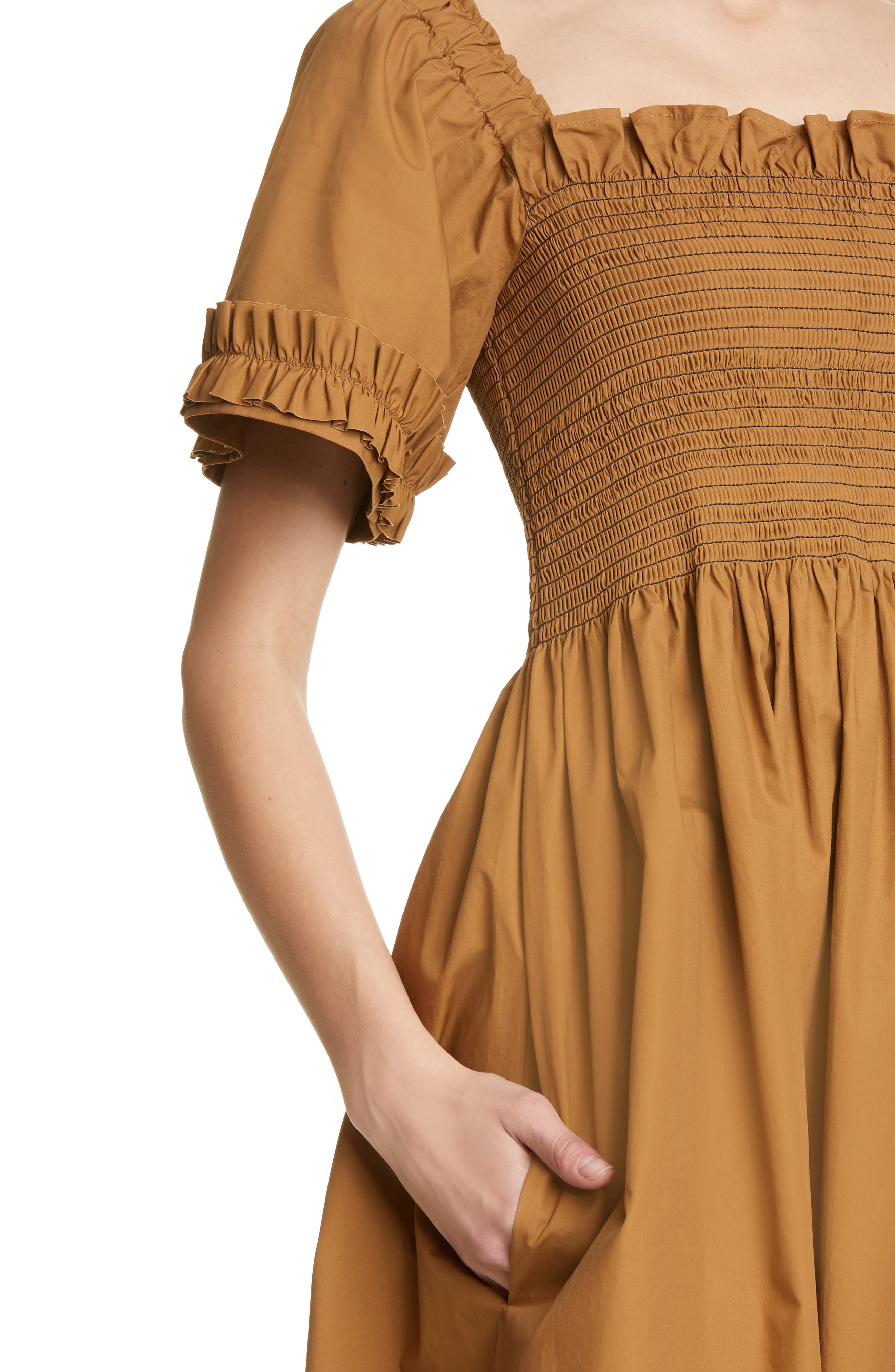 ,                             Adelaide Dress,                             Alternate thumbnail 4, color,                             BROWN