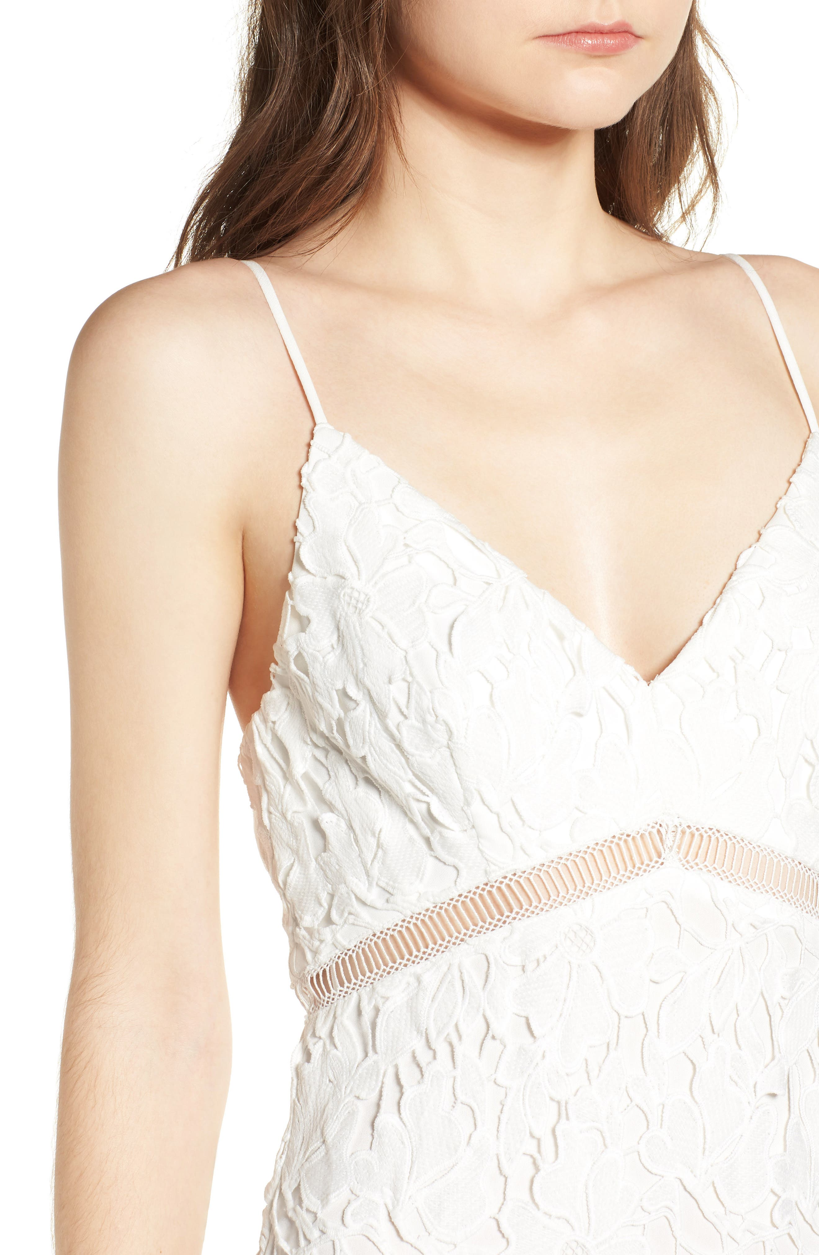 ,                             ASTR Lace Bodycon Dress,                             Alternate thumbnail 5, color,                             100