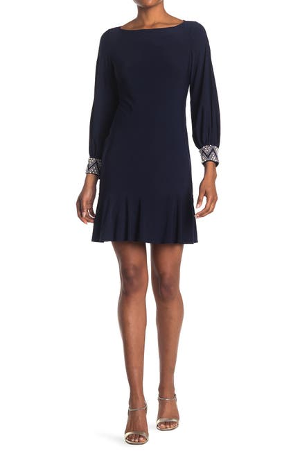 Image of Marina Embellished Cuff Dress