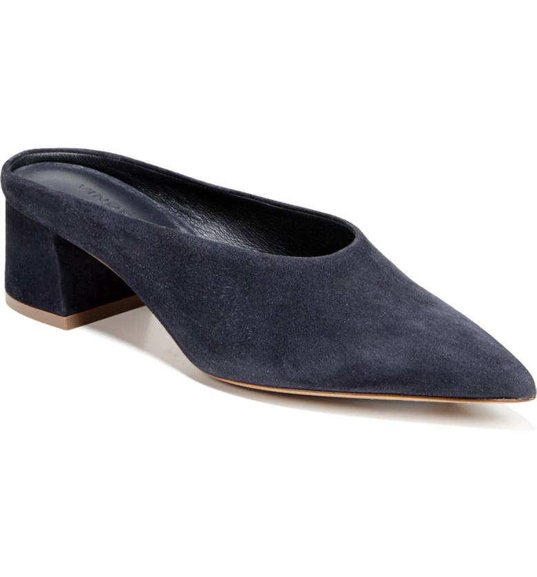 VINCE Ralston Pointy Toe Mule, Main, color, COASTAL