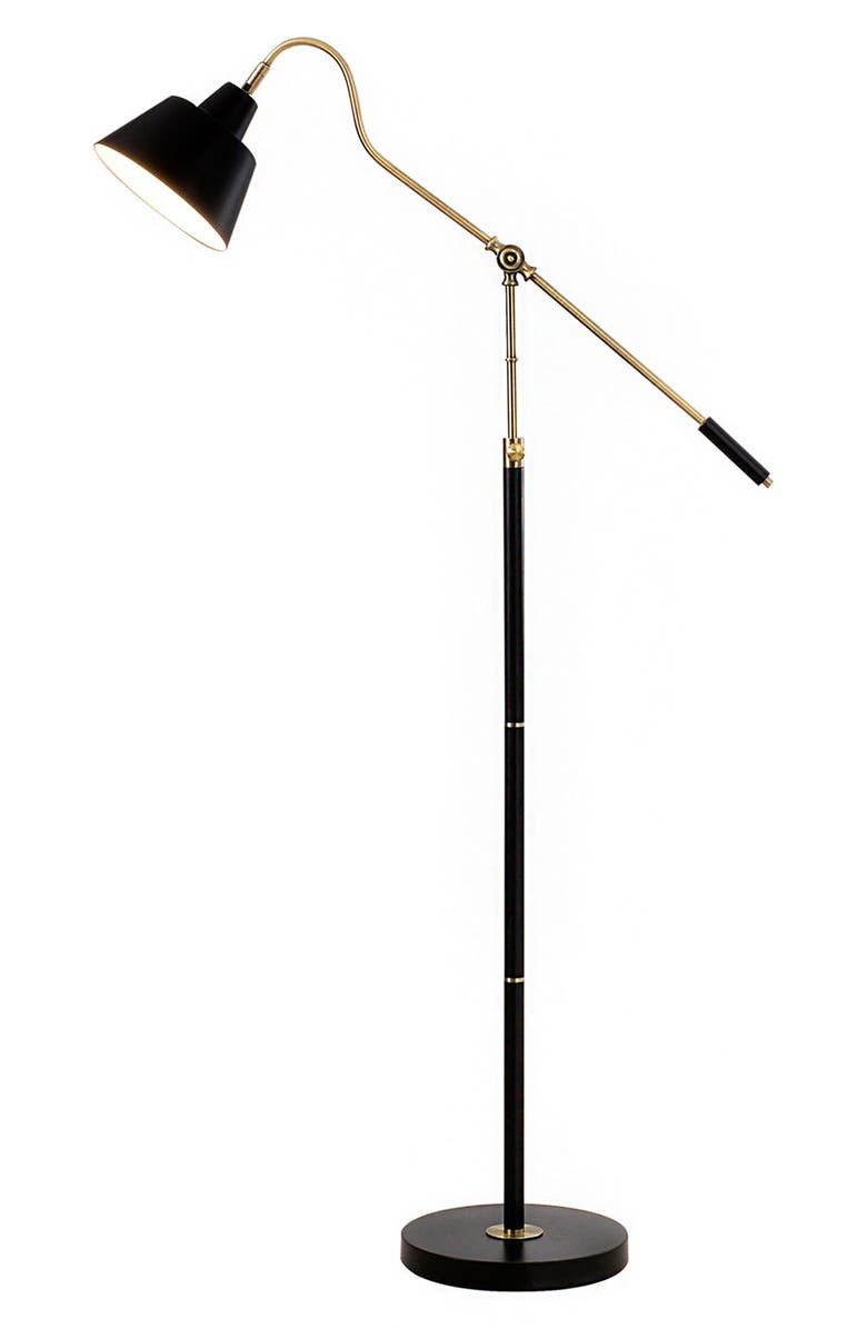 JALEXANDER LIGHTING JAlexander Adjustable Task Floor Lamp, Main, color, BLACK