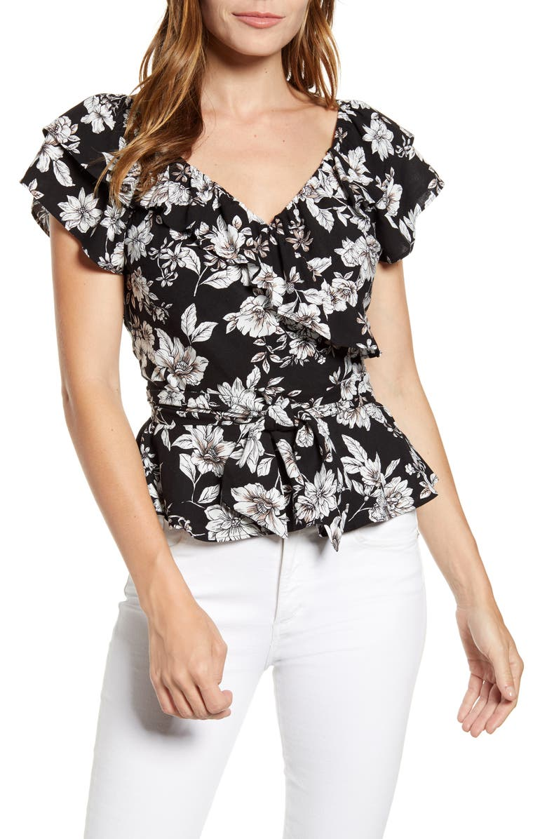 GIBSON x Hot Summer Nights Two Peas Ruffle Wrap Top, Main, color, 117
