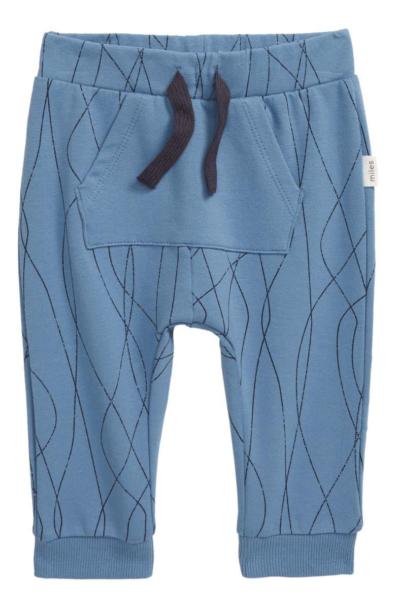 MILES BABY Knit Jogger Pants, Main, color, BLUE