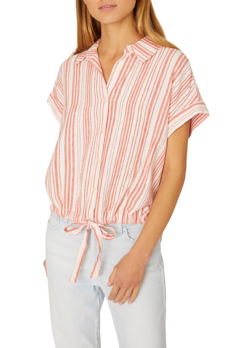 Miles Borrego Tie Front Shirt by Sanctuary