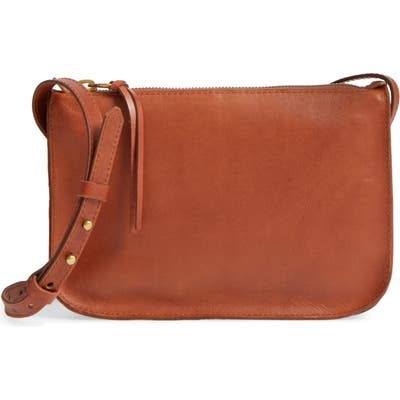 Madewell The Simple Leather Crossbody Bag - Brown