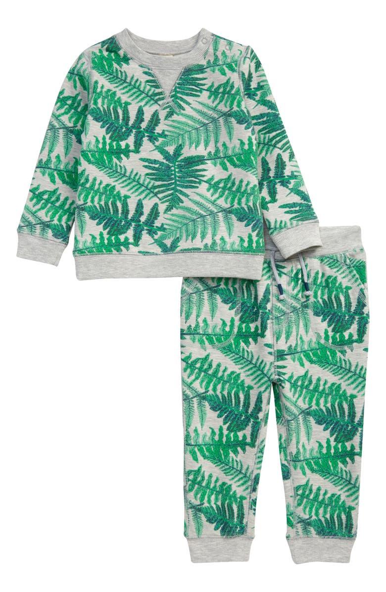 TUCKER + TATE So Soft Sweatshirt & Sweatpants Set, Main, color, GREY LIGHT HEATHER FERN CAMO