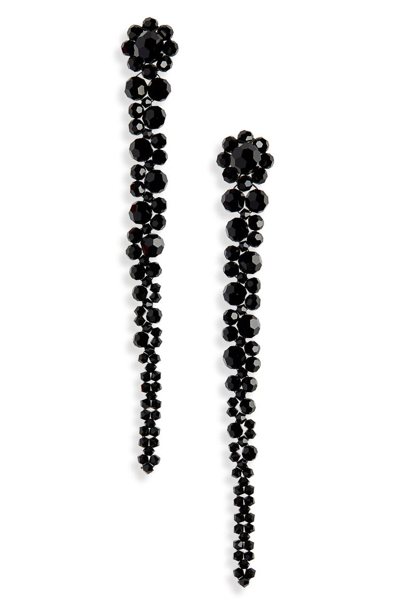 SIMONE ROCHA Beaded Drop Earrings, Main, color, JET