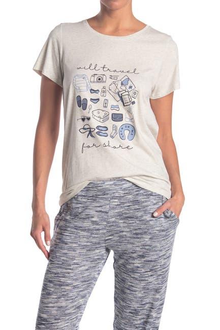 Image of HUE Will Travel Short Sleeve Pajama T-Shirt