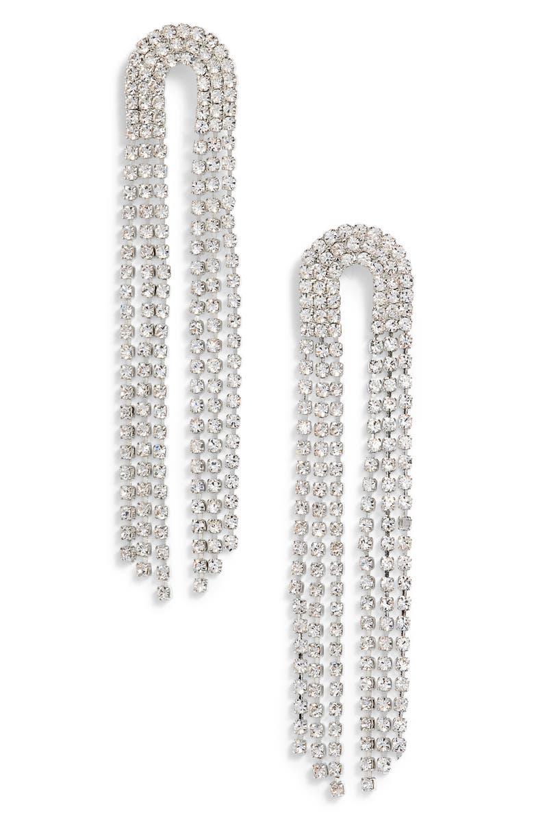 CRISTABELLE Multistrand Crystal Cascade Drop Earrings, Main, color, 040