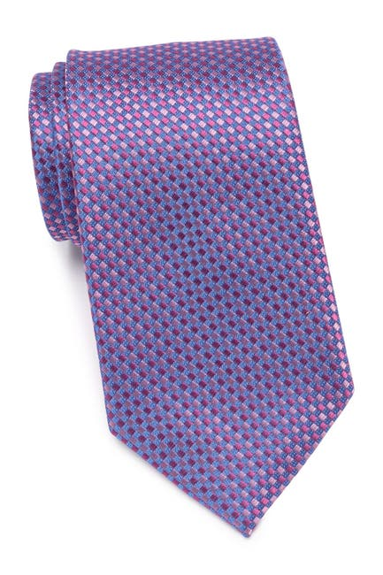 Image of KENNETH COLE Micro Diamond Silk Blend Tie