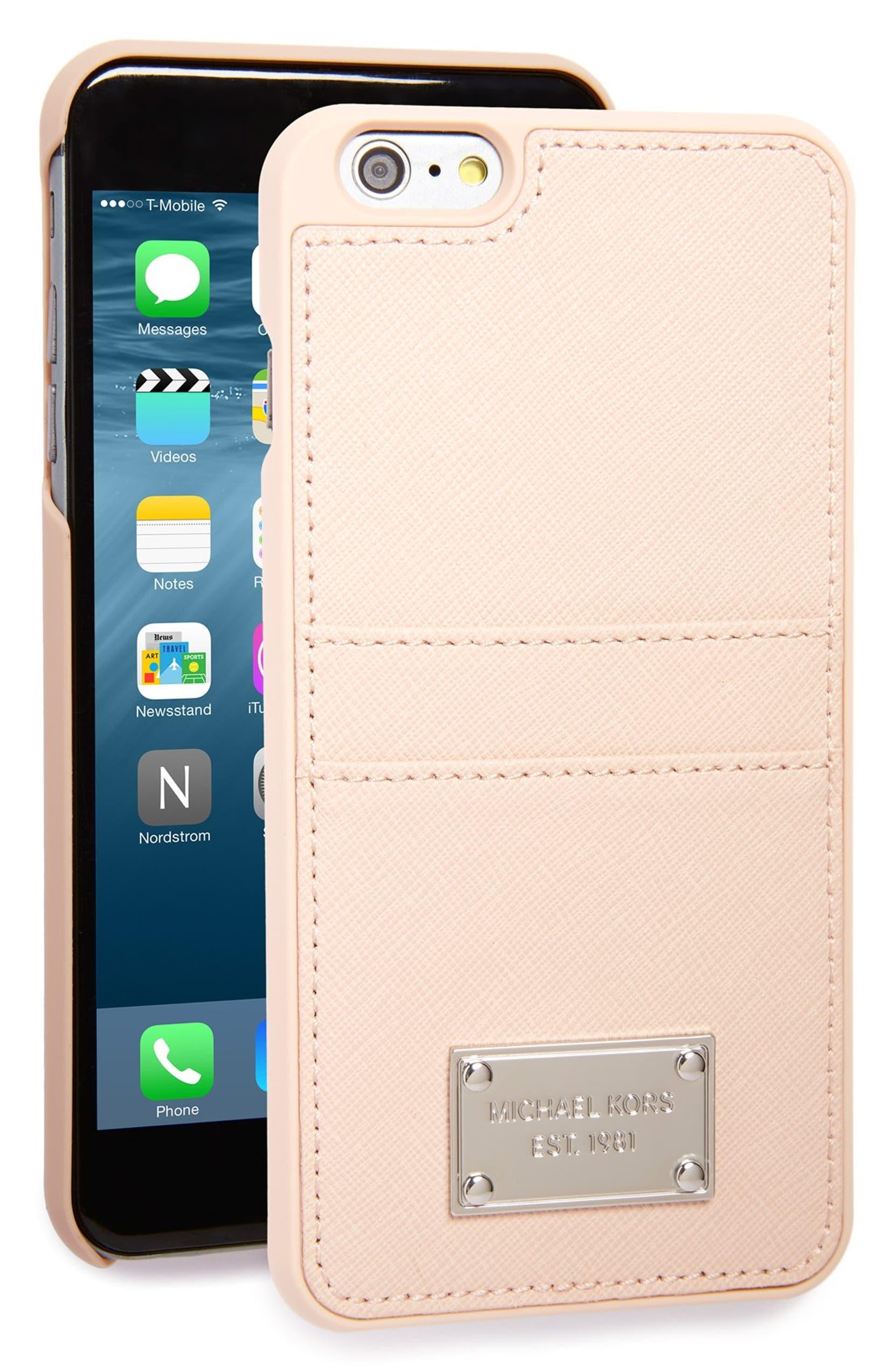 d9e596a3965ccc MICHAEL Michael Kors Saffiano iPhone 6 Plus & 6s Plus Case   Nordstrom