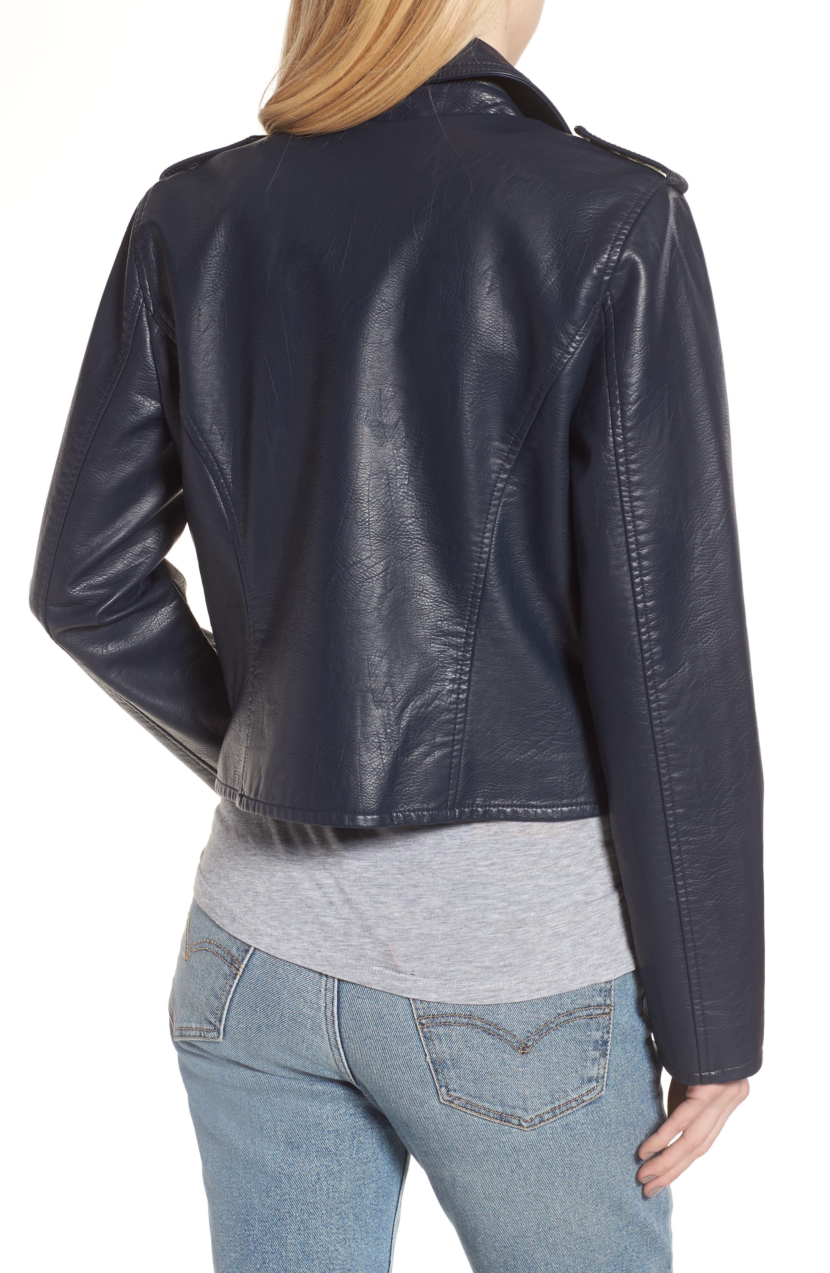 ,                             Faux Leather Moto Jacket,                             Alternate thumbnail 9, color,                             410