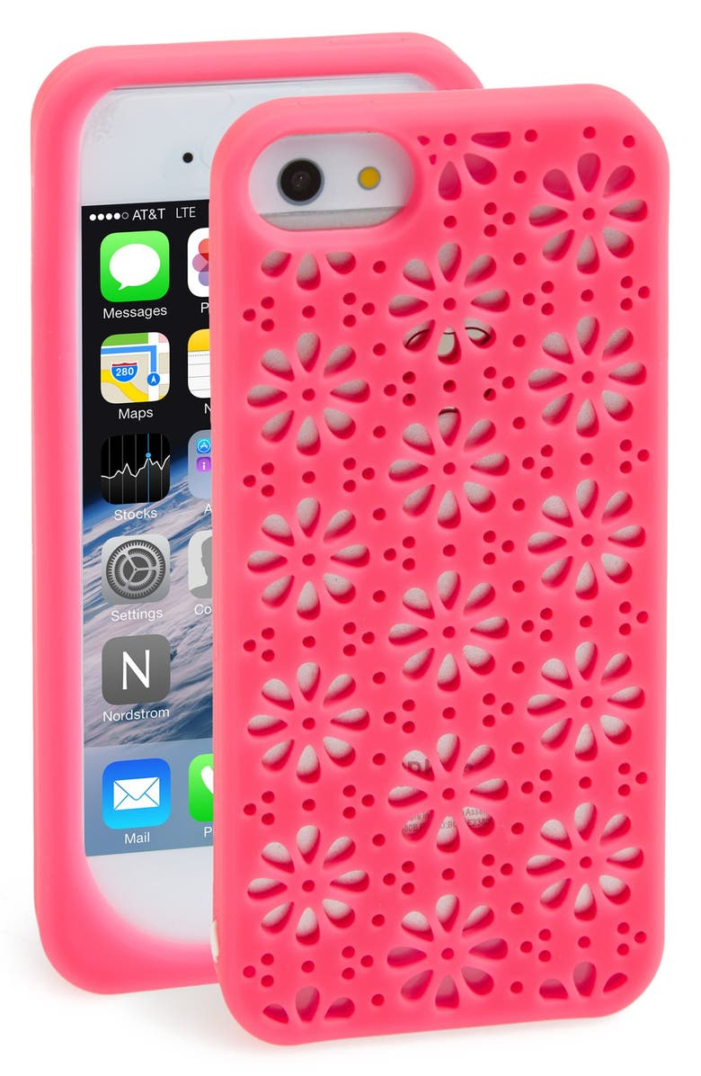KATE SPADE NEW YORK 'flowers' cutout iPhone 5 & 5s case, Main, color, 660