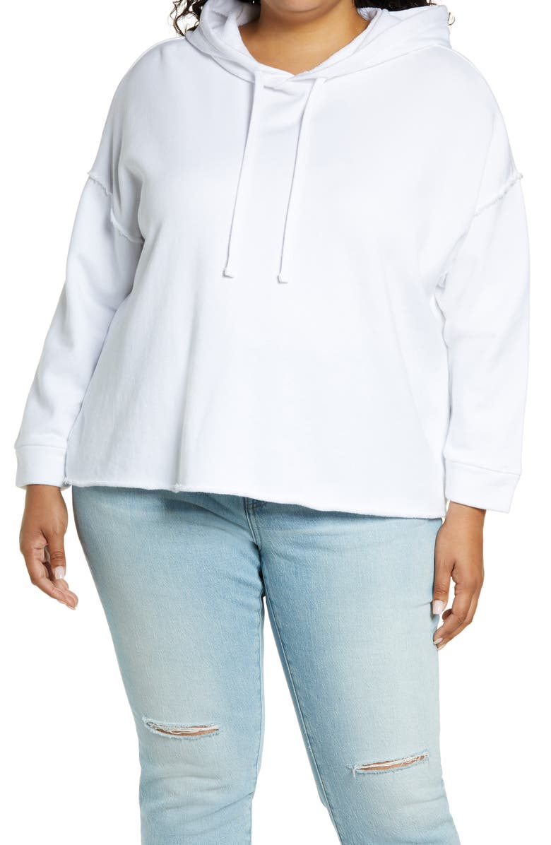 EILEEN FISHER Crop Hoodie, Main, color, White
