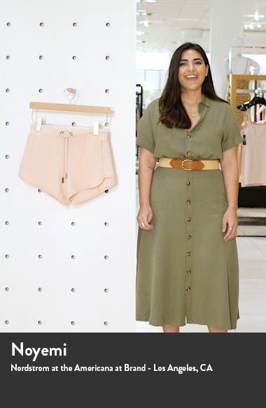 Rib Hacci Tie Waist Shorts, sales video thumbnail